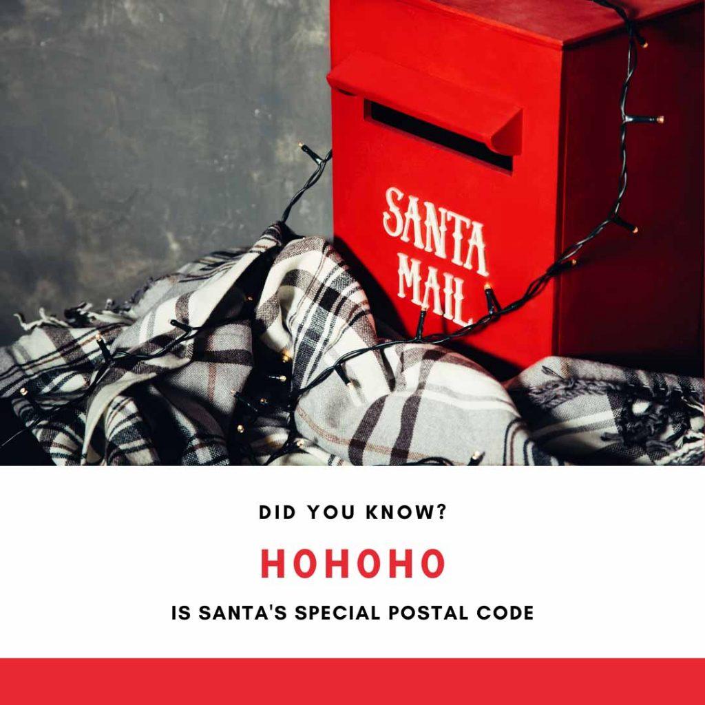 Santa is Canadian and has special postal code - Ho Ho Ho