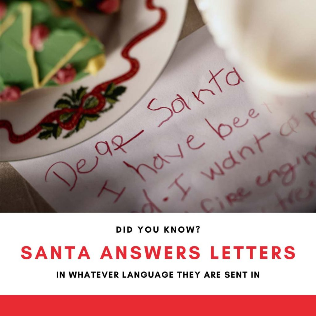 Santa answers letters in any language